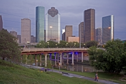 view of Houston skyline
