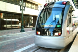 public transportation (Metro Rail) in Houston
